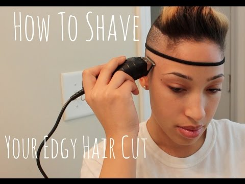 Tutorial How To Shave Your Edgy Haircut Youtube