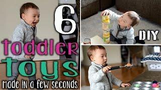 6 x DIY Spielzeug für Kleinkinder | kostenlos und schnell gemacht | mamiblock