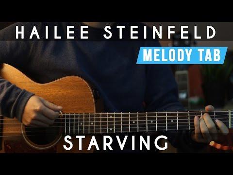 Starving - Hailee Steinfeld | EASY Guitar Tutorial | Chords & Melody Tab