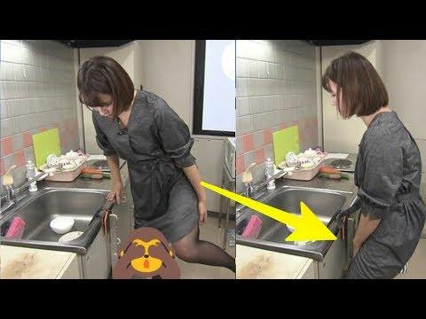 Pantasan Betah Di Dapur, Ternyata Wanita ini Asik Duduk kursi lipat Alat Bantu..