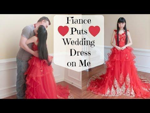 Fiance Puts Fancy Wedding Dress On Me (One of My Wedding Dresses)