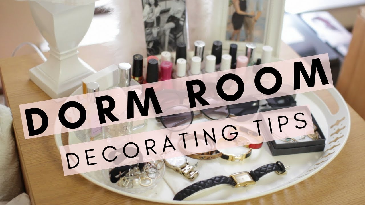 How To Make Your Dorm Room Cute Dorm Decorating Tips Youtube