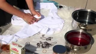 как сделать футболку тай дай tie dye