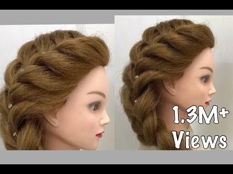 Side French Braid Easy Hairstyles