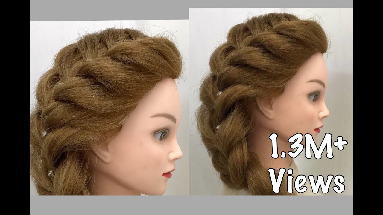 Side French Braid : Easy Hairstyles - YouTube