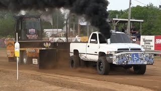 Central Illinois Truck Pullers - 2015 Cass County Fair - Virginia, IL Pull