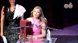 ماذا قالت ليلي علوي ردا على مصطفي محرم في كلمتها بالمهرجان القومي للسينما