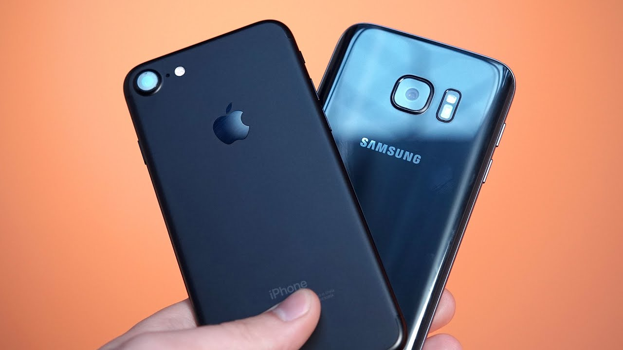 iphone 7 vs samsung galaxy s7 speed test   youtube