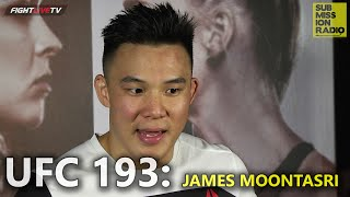 UFC 193: James Moontasri talks crazy double spinning finish KO