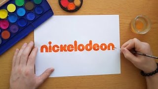 How to draw the nickelodeon logo (Logo drawing)