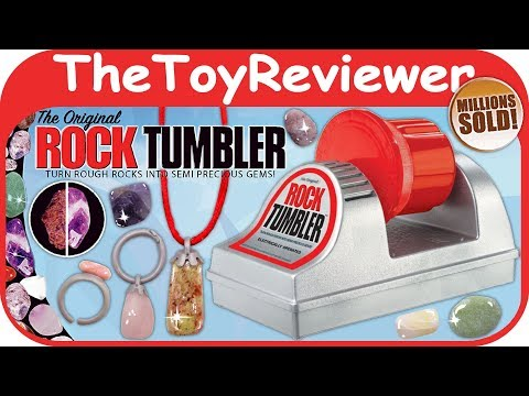 Original Rock Tumbler NSI International Before And After Jewelry Unboxing Toy Review TheToyReviewer