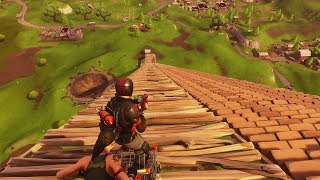 RIDING DOWN MAX HEIGHT RAMP ON FORTNITE IN A SHOPPING CART