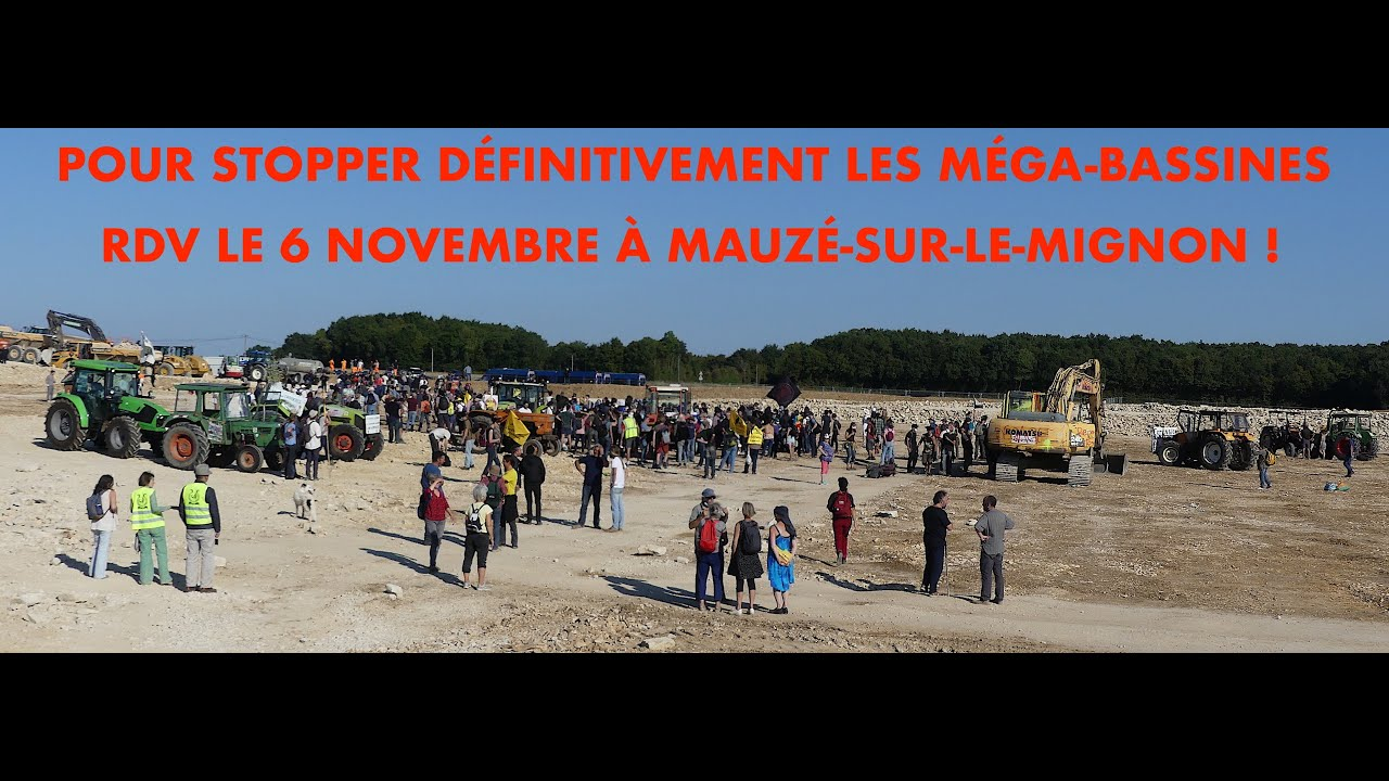 STOP BASSINES : MANIF' le 6 novembre à Mauzé-sur-le-Mignon !