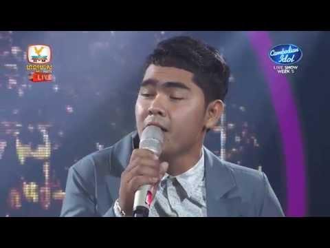 Cambodian Idol | Live show | Week 05 | មាស មុន្នីរាជ  | ស្រណោះផ្កាខ្ទម្ព
