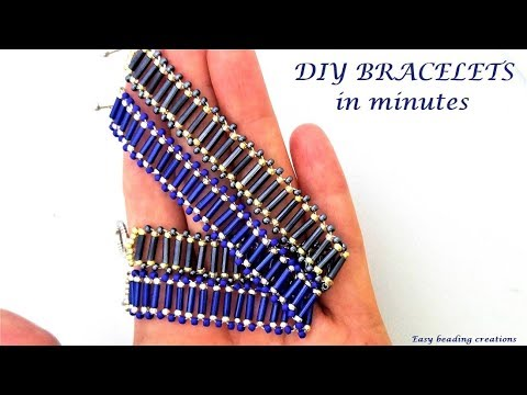 10 minutes beaded bracelet with an easy pattern