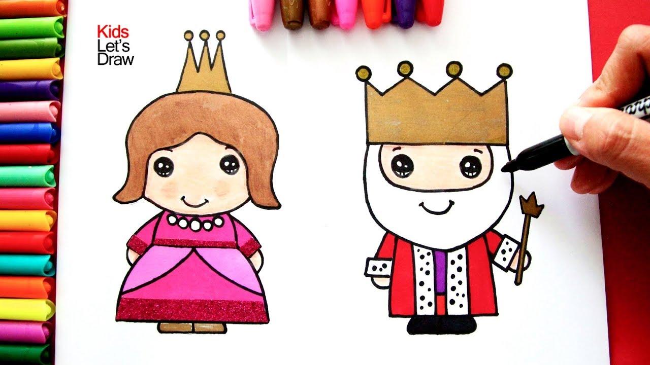 Cómo Dibujar Y Colorear Al Rey Y La Reina De Manera Fácil Dibujos