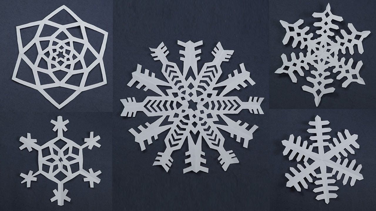 10 awesome paper snowflake patterns for christmas decorations easy paper craft youtube - Easy Paper Christmas Decorations