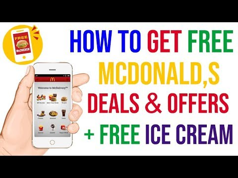 How to Get McDonald's Free Deals And Offers + Free Ice Cream || ITIANS
