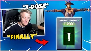 "TFUE BUYS ""T-POSE"" EMOTE FOR BIRTHDAY! (SPENDS MONEY ON FORTNITE AGAIN!)"