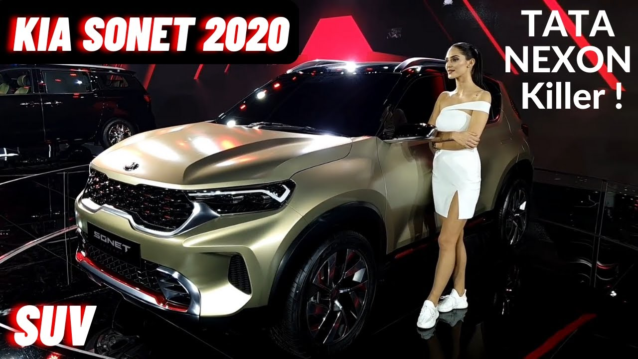 2020 Kia Sonet Premium SUV India - Variants, Features, Price, Interiors | Kia Sonet 2020 | Nexon SUV