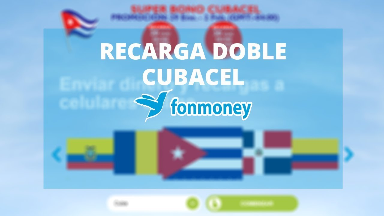 Próxima Promoción Recarga Doble Cubacel A Cuba Fonmoney Cuba