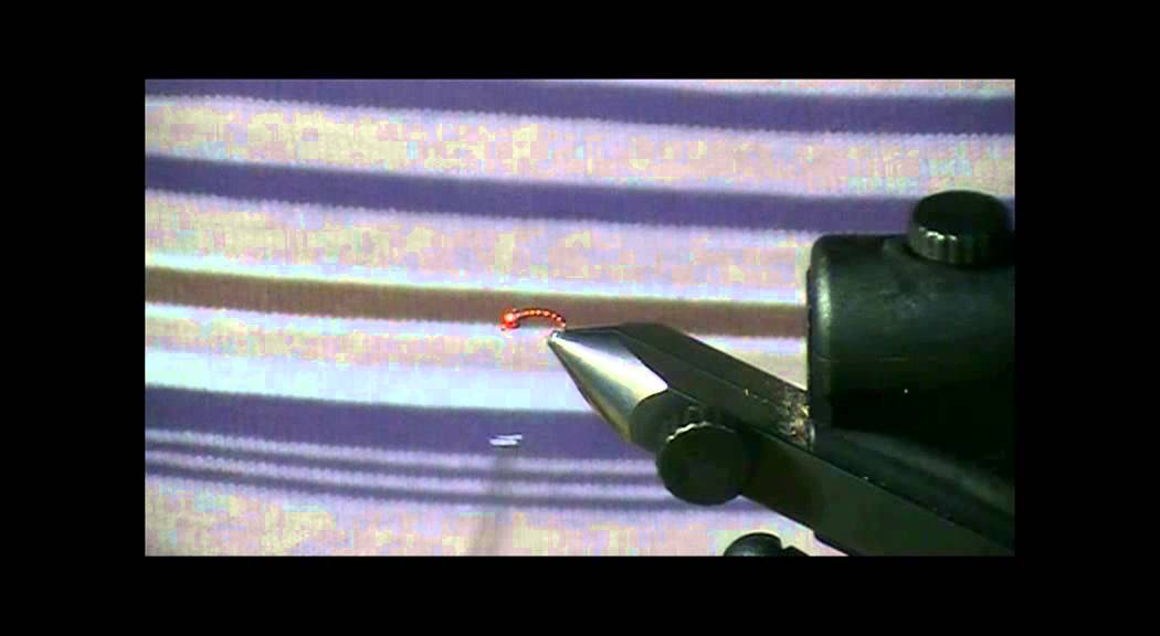 Red Krystal Flash Midge for Fly Tying