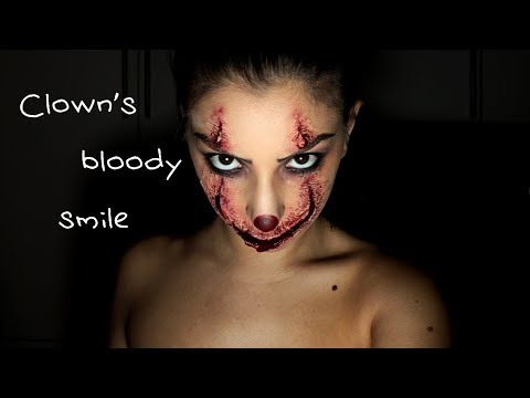 Clown's Bloody Smile - Halloween Makeup Tutorial
