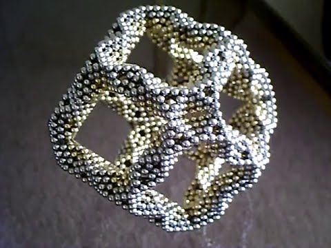 Rhombic Dodecahedron Frame From Octahedrons (Ball Magnets)
