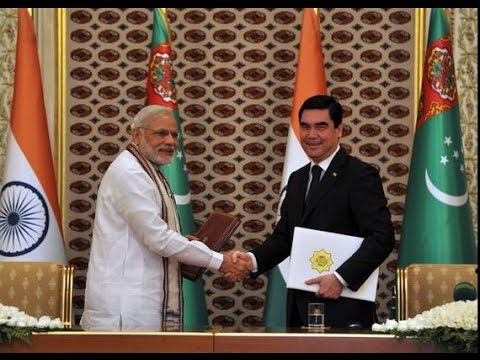 PM Modi and Turkmenistan President Berdimuhamedov at the Signing of Agreements and Press Statements