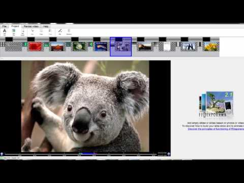 How to Create Photo Slideshow with music for free Using ffDiaporama