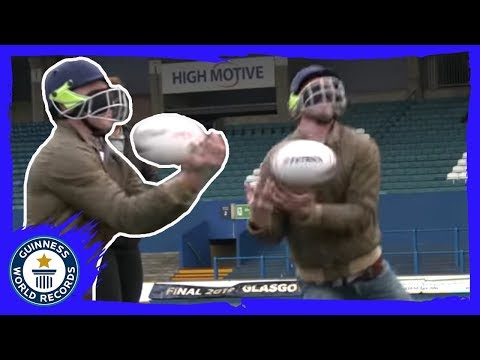 Longest kick and catch, Farthest blindfolded catch and