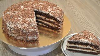 Очень Вкусный Торт Простой Рецепт/ Маззали Тез Тайёр Буладигон Шоколадный Торт/ Chocolate Cake/