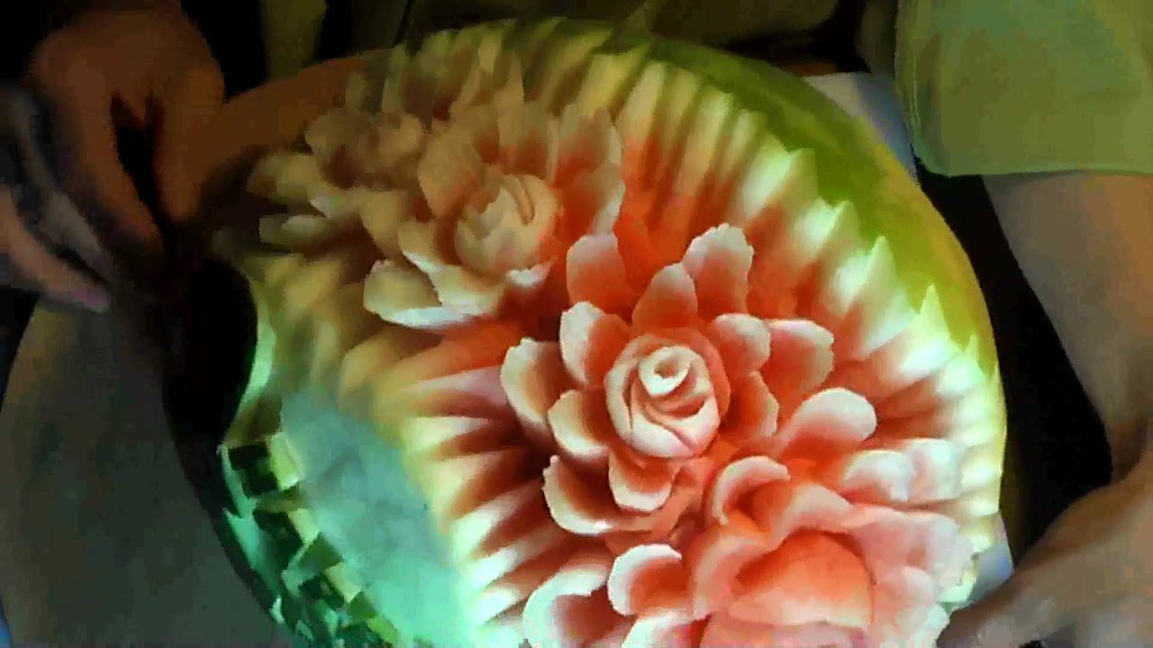 Mom s day flowers fruit carving youtube