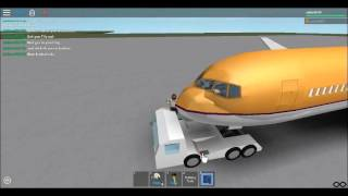 Roblox how to weld a plane to the tug.