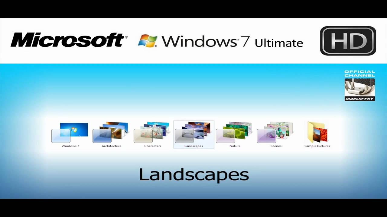 Microsoft Windows 7 Wallpapers From Retail Version In Hd
