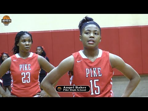 ANGEL BAKER IS THE ULTIMATE Playmaker! Gets Buckets and Lead Pike to 2017 State Championship Game