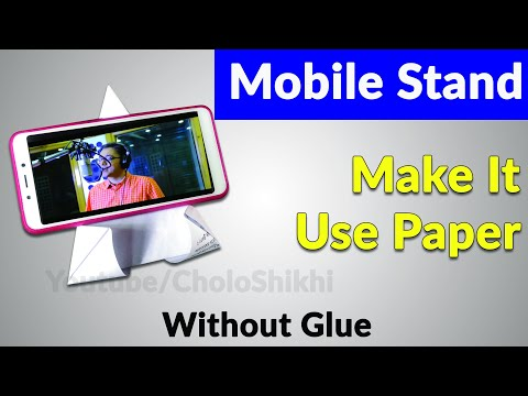 How to Make a Mobile Stand With Paper Without Glue | Cholo Shikhi