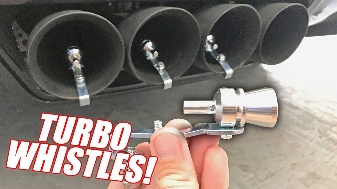 TURBO EXHAUST WHISTLES vs  841hp CORVETTE!