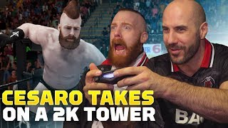 WWE's Cesaro Takes on a WWE 2K19 Challenge Tower