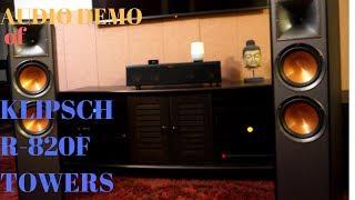 klipsch r-820f Tower Speakers Sound Demo(POP)