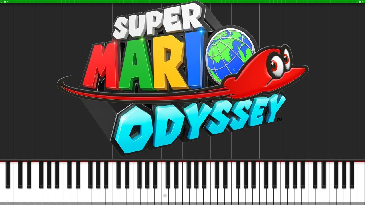 Cascade Kingdom - Super Mario Odyssey [Piano Tutorial] (Synthesia) //  AqareCover