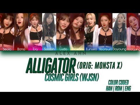 COSMIC GIRLS (WJSN) 우주소녀 - Alligator (Monsta X Cover) Color Coded Lyrics (Han/Rom/Eng/가사)