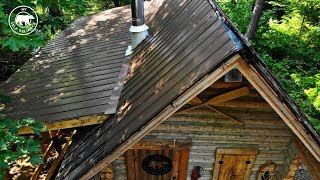 Installing a Metal Roof on an Off Grid Log Cabin Alone | Alaska Update
