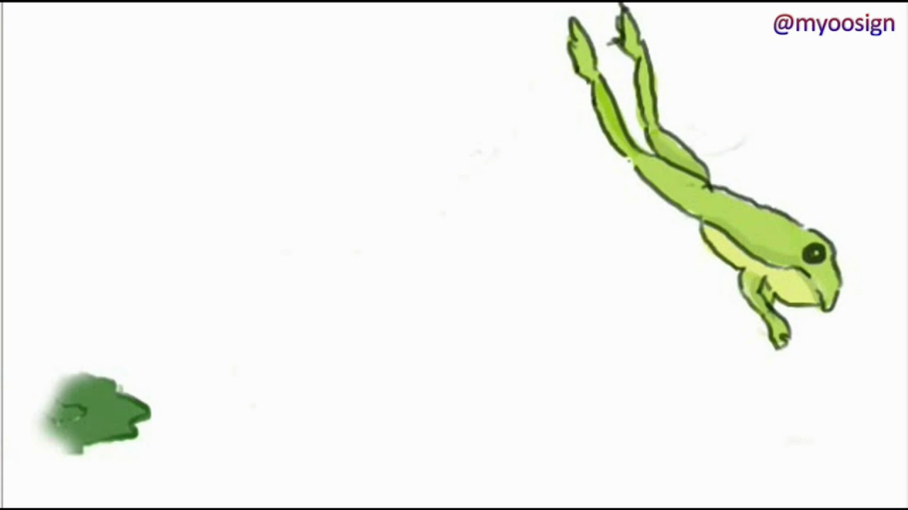 Jumping Frog | Animation Loop - YouTube