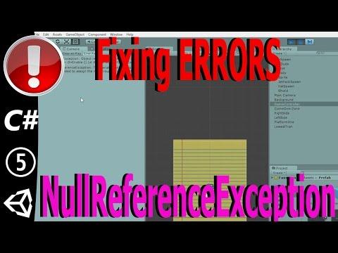 Debugging Unity: Fixing A NullReferenceException Error