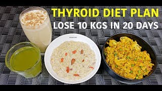 Thyroid Veg Diet for Weight Loss | Vegetarian Thyroid Diet | PCOD/PCOS Diet for Weight Loss