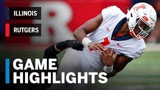 Highlights: llinois Fighting Illini vs. Rutgers Scarlet Knights   Big Ten Football