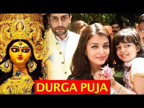 Aishwarya Rai, Abhishek Bachchan, Amitabh Bachchan celebrate Durga Puja with daughter Aaradhya