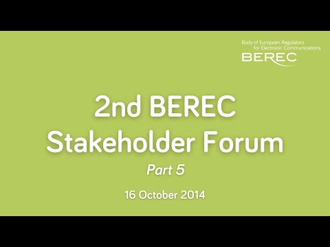 2nd BEREC Stakeholder Forum Meeting - Looking for the future model for roaming - part 1