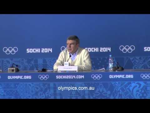 IOC President Thomas Bach Press Conference